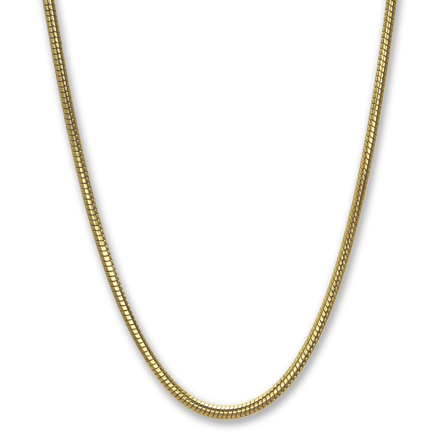 Classic Round Snake 14k Gold Necklace - 24 in.